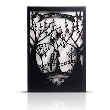 Black And White Invitation Paper Laser Cut Printable Wedding Invitation Kits 25pcs 4 7 X 7 Black Love Tree Wedding Invitations Cards With Printable Paper And Envelopes For