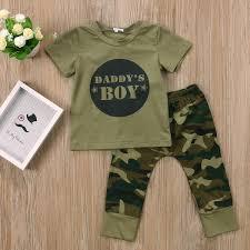 <b>2pcs Baby</b> Clothes <b>Newborn Toddler Army</b> Green <b>Baby</b> Boy Girl ...