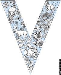 Small Picture Letter V Coloring Page by YUCKLES