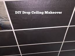 basement drop ceiling ideas. diy drop ceiling makeover- cover tiles with wallpaper basement ideas n