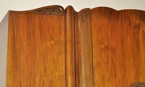 cws pelaw antique armoires. Attractive Vintage Art Deco Burl Burr Walnut C.W.S. Ltd. Wardrobe Armoire Cws Pelaw Antique Armoires