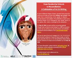 alberta project of heart residential school art and writing celebration poster