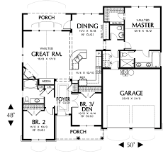 Hollis   Bedrooms and Baths   The House DesignersFirst Floor Plan