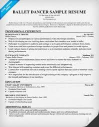 dancer resume is one of the best idea for you to make a good resume 3