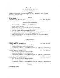 Simple Sample Resumes Simple Free Resume Template Jobsxs Com