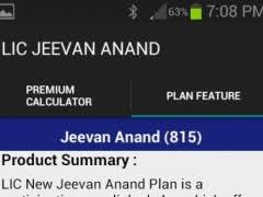 Lic New Jeevan Anand 815 Premium Chart Lic New Jeevan Anand 1 0 Free Download
