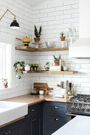 styled open shelving in the kitchen of this Vintage Eclectic Barn ...