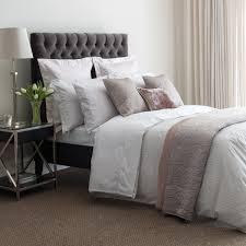 modern silver striped bedding
