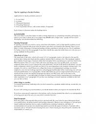 Resume Sample Cover Letter For College Teaching Position Best