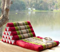 Thai Triangle Pillows Floor Seating for Crowds Floor pillows