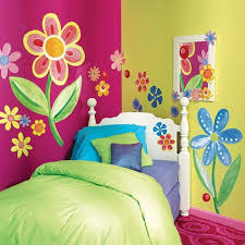 girl room wall paint ideas. colorful and wonderful flowers wall murals stickers for teenage girls bedroom paint decorating ideas girl room n