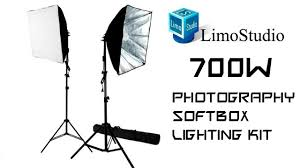 limostudio 700w photography softbox light lighting kit review