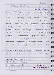 11:16 am catatan not lagu (piano pemula), not angka : Not Angka Sherina Bintang Di Langit Lhia S Music Notes