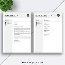 Creative Resume Cover Letter Creative Resume Template Modern CV Template Word Cover Letter 2