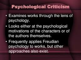 Psychological Criticism Ppt Literary Criticism Powerpoint Presentation Id 1954776