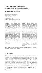 Pdf Logical Fallacies In Efl Learners Argumentative Writings