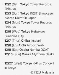 Tower Records Chart Tower Records K Pop Weekly Chart 11 27 12 3 In2it Super