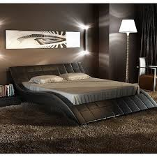 I absolutely LOVE this bed! Rosetta Queen Size Leather Bed, Black ...