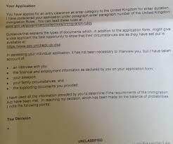 Uk Visa Blank Refusal Letter Without Reason For Refusal Travel