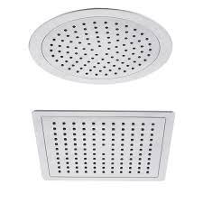 chrome round square 200mm overhead rain shower head swivel ball joint 1 2 bsp