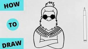 Logo d'art logo branding foto logo logo free gaming logo ninja logo warrior. How To Draw Free Fire Characters Step By Step Artbysujan Youtube