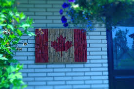 eccentricity wood canadian wall art abstract cottage flag urban reclaimed planks combined painted sculptures decor