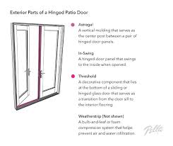 a vertical molding that serves as the center post between a pair of hinged door panels