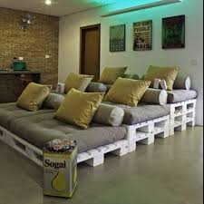 small media room ideas. Upcycling Interiors 10 Top Pallet Ideas Small Media Room