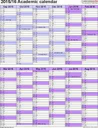 School Calendar 2015 16 Printable Template 5 Academic Year Calendar 2015 16 As Excel Template