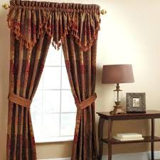 gold patterned curtains endearing red patterned curtains and gold color metal curtains rod behind red orange gold patterned curtains