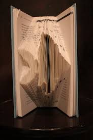 fish folded book art book origami by jonomi on etsy