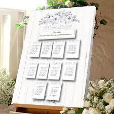 Wedding Meal Planner Vintage Rose Wood Wedding Table Plan Canvas Seating Meal Plan
