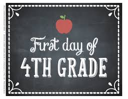 Image result for first day of 4th grade