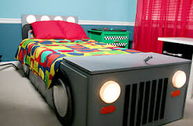 Homemade race car bed.. Easier to make than you think! Materials: 1
