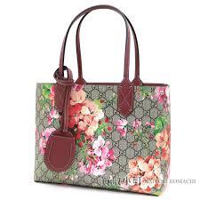 kaitorikomachi gucci gg bloom reversible leather tote bag antique rose gg leather small tote bag shoulder bag flower print fl design 372613 cu710 8693