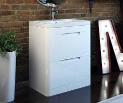 freestanding bathroom vanity. Octave White 600mm Freestanding Vanity Unit With Basin - V50121226FB Scene Square Medium Bathroom M