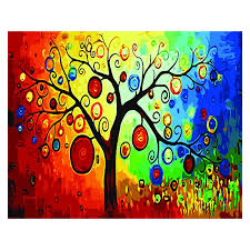 diy oil painting paint by number kit for 16 by 20 inch tree d8p3