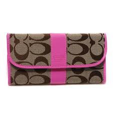 ... Coach Legacy In Signature Large Pink Wallets DUP ...