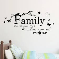 family love never ends quote vinyl wall decal wall lettering art words sticker home decor wedding decoration living room princess wall stickers quote decals  on wall art lettering words with family love never ends quote vinyl wall decal wall lettering art
