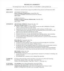 Resume For Mba Program Mba Application Resume Examples Applicant Resumes Mba Admission