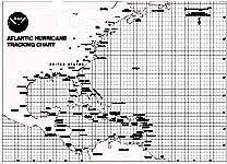 Hurricane Tracking Chart Atlantic Hurricane Tracking Maps