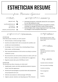 Skin Care Resume Esthetician Resume Example Writing Tips Resume Genius