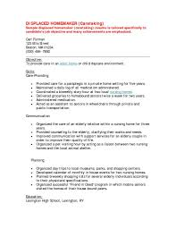 Housewife Resume Examples Of Resumes For Displaced Housewives 8