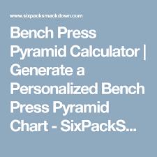 Bench Chart Calculator Bench Press Pyramid Calculator Generate A Personalized