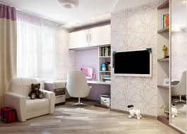 bedroom with tv and computer. Teenage Girl Bedroom Accessories In White Theme With Wooden Computer Desk And Single Sofa Also Lcd Tv R