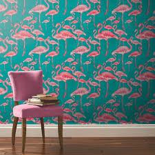 Small Picture Beach Fuschia Designer Wallpaper