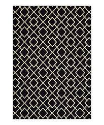 black ivory geometric larson rug