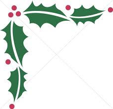 christmas menu borders holly decoration winter borders