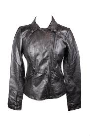 image is loading guess black asymmetrical zip faux leather jacket s