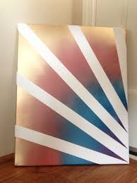 Painters Tape Design Spray Paint Canvas Painting Place Kanvas